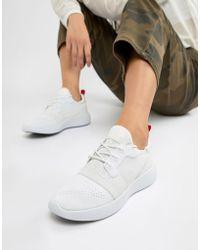 Calvin Klein - Meryl Knit White Logo Trainers - Lyst