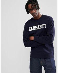 Carhartt WIP - College Sweatshirt In Navy - Lyst