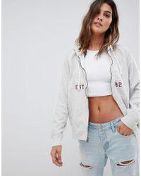 Abercrombie & Fitch - Zip Thru Hoodie With New York Logo - Lyst