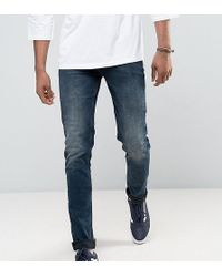 ASOS - Tall Skinny Jeans In Blue Black Wash - Lyst