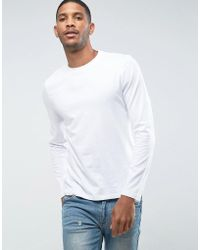 ASOS - Long Sleeve T-shirt With Crew Neck - Lyst