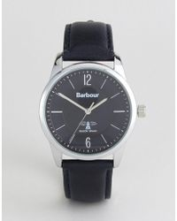 Barbour - Leighton Watch With Navy Strap - Lyst