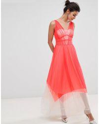 Coast - Luca Pleated Color Block Maxi Dress - Lyst