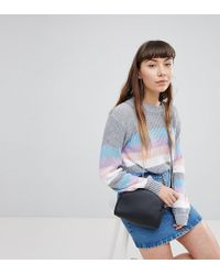 Daisy Street - Relaxed Sweater In Stripe - Lyst