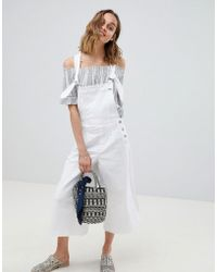 Pepe Jeans - Wide Leg Dungaree - Lyst