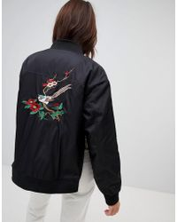 NA-KD - Embroidery Bomber Jacket - Lyst