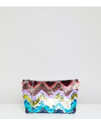 ddc734e3c66 Accessorize - Rainbow Sequin Clutch Bag With Chain Strap - Lyst