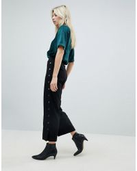Minimum - Stud Side Cropped Trousers - Lyst