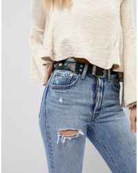 ASOS | Western Turquoise Stone Waist & Hip Belt | Lyst
