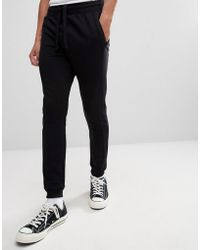 Stradivarius - Panelled Joggers In Black - Lyst