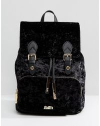 Faith - Velvet Double Buckle Backpack - Lyst