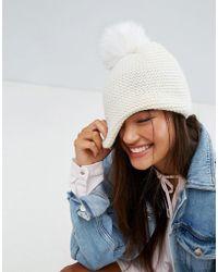 Alice Hannah - Chunky Knit Beanie Hat - Lyst