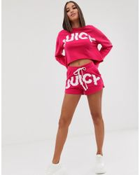 Juicy Couture - Juicy By Sliced Logo Shorts - Lyst
