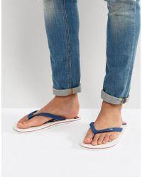 Hollister | Flip Flops Don't Even Trip Print In White | Lyst