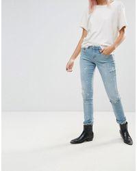 Blank NYC - Silent Shout Paint Splash Skinny Jeans - Lyst