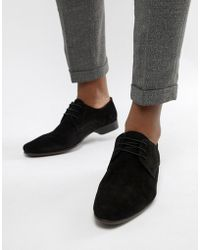 ASOS - Derby Shoes In Black Suede - Lyst