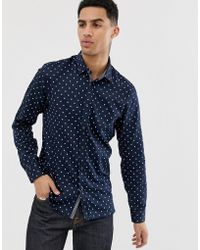 Ted Baker Shirt With Geo Print - Blue