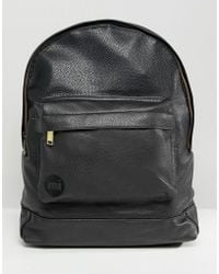 Mi-Pac - Tumbled Backpack In Black - Lyst