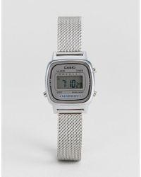 G-Shock - La670 Digital Mesh Watch In Silver - Lyst