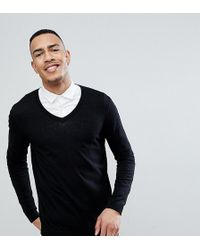 f5560587d932 ASOS Muscle Fit Turtle Neck Jumper In Cotton in Black for Men - Lyst