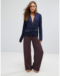 Tommy Hilfiger - Silky Woven Wide Leg Pant - Lyst