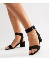 London Rebel - Wide Fit Heeled Sandals - Lyst