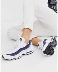 separation shoes 8d143 7179f Nike - Air Max 95 Trainers In White - Lyst