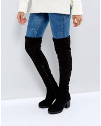 New Look - Chunky Track Sole Over The Knee Boot - Lyst