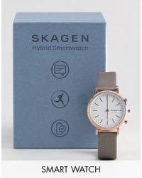 Skagen - Connected Skt1406 Hald Satin Hybrid Smart Watch In Grey 34mm - Lyst