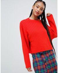 Bershka - Wide Jumper Knitted Jumper - Lyst