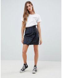 Daisy Street - Ruffle Wrap Skirt In Check - Lyst