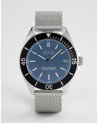 BOSS - 1513561 Ocean Edition Mesh Watch In Silver - Lyst