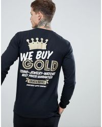 Cheats & Thieves - Gold Back Print Long Sleeve Top - Lyst