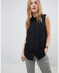 ASOS - Sleeveless Blouse - Lyst