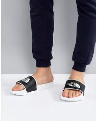 The North Face - Base Camp Sliders Ii In White/black - Lyst