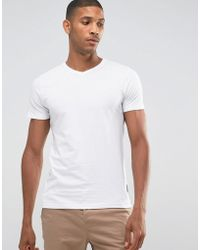 French Connection - V Neck T-shirt - Lyst