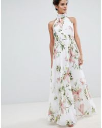 7a326ea182c Ted Baker - Pleated Maxi Dress In Harmony Floral Print - Lyst