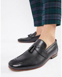 58b2a3d350f Lyst - Ted Baker Ambreze Tassel Loafers in Black for Men