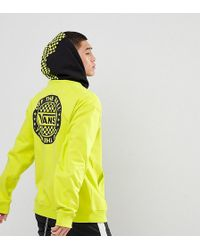 Vans - Oversized Hoodie With Back Print In Green Exclusive To Asos - Lyst