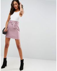 ASOS - Tailored Mini Skirt With Metal Circle Buckle - Lyst