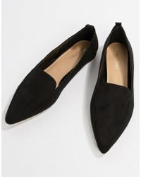 Miss Selfridge - Pointed Loafers In Black - Lyst