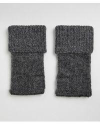 ASOS - Wool Gloves Dark Charcoal - Lyst