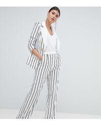 Missguided - Stripe Wide Leg Pants - Lyst