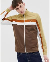 Pretty Green - Track Top In Brown - Lyst