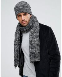 French Connection - Marble Knit Scarf - Lyst