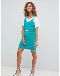 ASOS - Co-ord Skirt In Fluffy Knit - Lyst