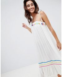 River Island - Multi Color Pop Beach Midi Dress - Lyst