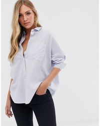 French Connection Dotted Stripe Shirt - Blue