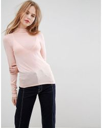 ASOS - Jumper With Turtle Neck In Sheer Knit - Lyst