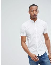 Only & Sons - Short Sleeve Slim Fit Stretch Cotton Shirt - Lyst